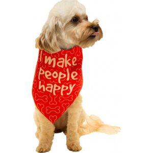 dog fashion living i make people happy bandana