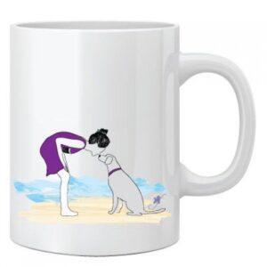 Dog On a Beach Mug by Dog Fashion Living