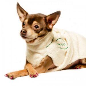 100% Cotton Dog Bathrobe by Dog Fashion Spa