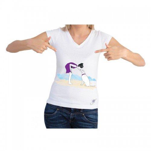 Dog On a Beach Shirt by Dog Fashion Living