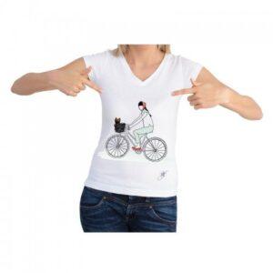 Dog On a Bike Shirt by Dog Fashion Living