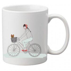 Dog On a Bike Mug by Dog Fashion Living