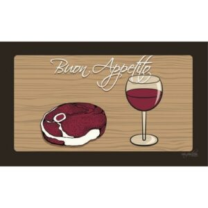 Steak & Wine Dog Bowl Placemat by Dog Fashion Living