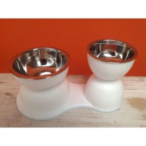 Beautifool Pet Elevated Double Bowl Set by Dog Fashion Living