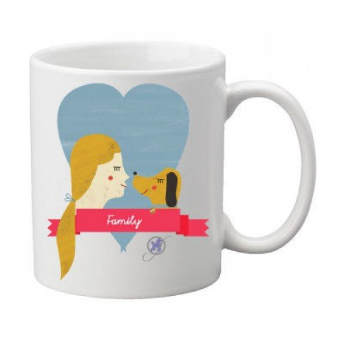 Dogs Are Family Mug by Dog Fashion Living