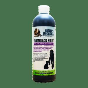 natures specialties vantablack night 16oz shampoo