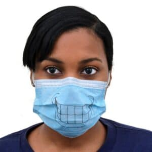 Pack of 5 Paper Dust Masks with a Smile by Proguard