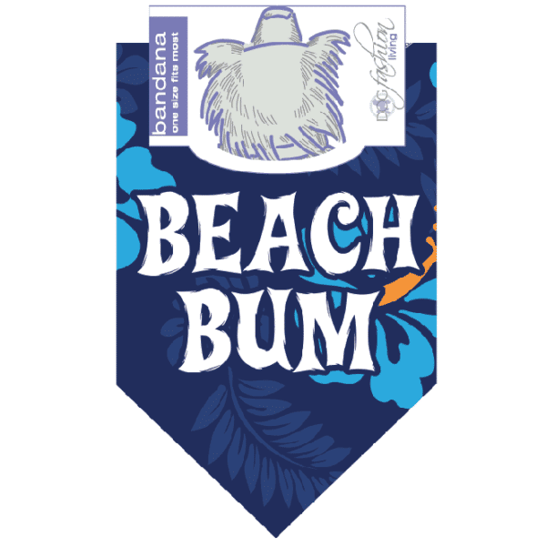 Beach Bum Dog Bandana by Dog Fashion Living