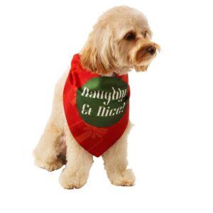 Naughty & Nice Holiday Dog Bandana by Dog Fashion Living