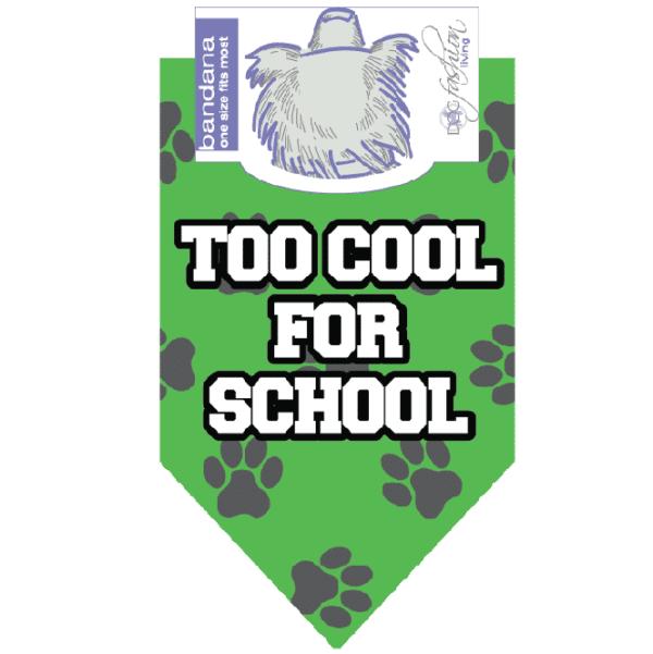 Too Cool For School Bandana by Dog Fashion Living