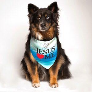 dog fashion living jesus loves me bandana