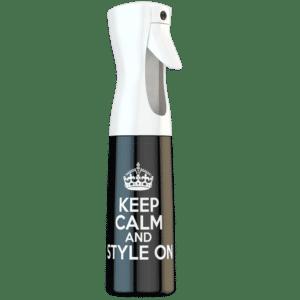 Continuous Spray Bottle Keep Calm Black