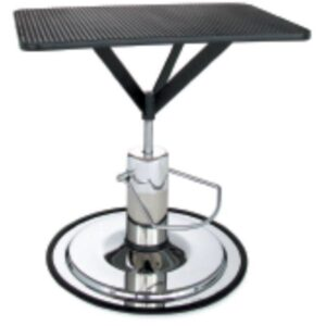 Classic Economy Hydraulic Pedestal Table - Rectangular Table Top
