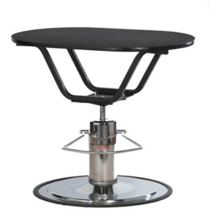Classic Hydraulic Pedestal Table - Oval Table Top