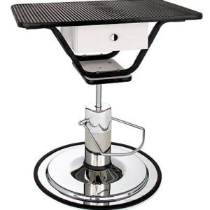 Classic Hydraulic Pedestal Table - Rectangular Table Top