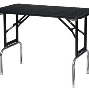 """Portable Grooming Table with Adjustable Height and Folding Legs - 36"""" x 24"""""""
