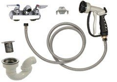 Tub Plumbing Complete Set-up 4″ Center for Monster Tub by PetLift