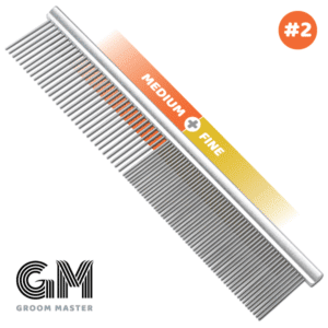 "10"" Groom Master Medium & Fine Comb by Mastercut"