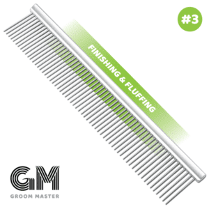 """10"""" Groom Master Finishing & Fluffing Comb by Mastercut"""