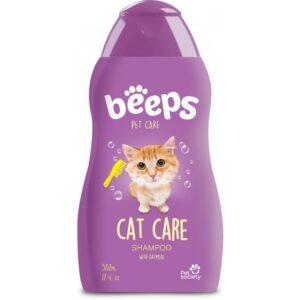 Beeps cat shampoo with oatmeal 17 oz kitten pet
