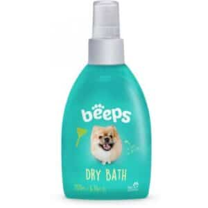Beeps dry bath dog spray waterless shampoo travel