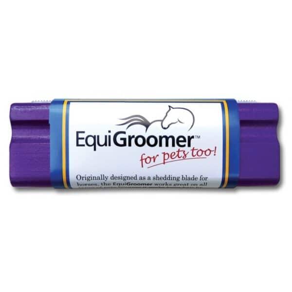 Purple Equigroomer Dog Deshedding Tool