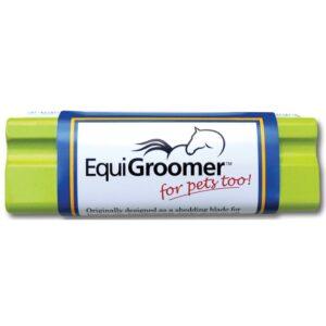 Lime Green Equigroomer Dog Deshedding Tool
