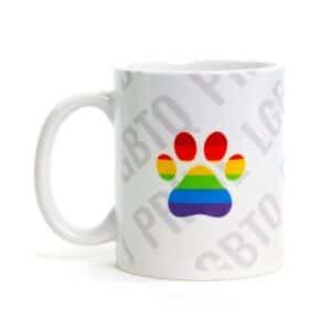 LGBTQ Paw Print Mug by Dog Fashion Living