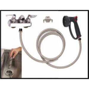 Petlift grooming tub plumbing kit with hair interceptor A45-4C-625