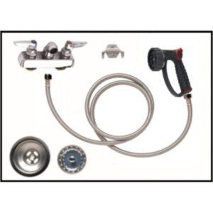 Petlift grooming tub plumbing pack drain assembly