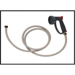 Petlift trigger nozzle and hose plumbing