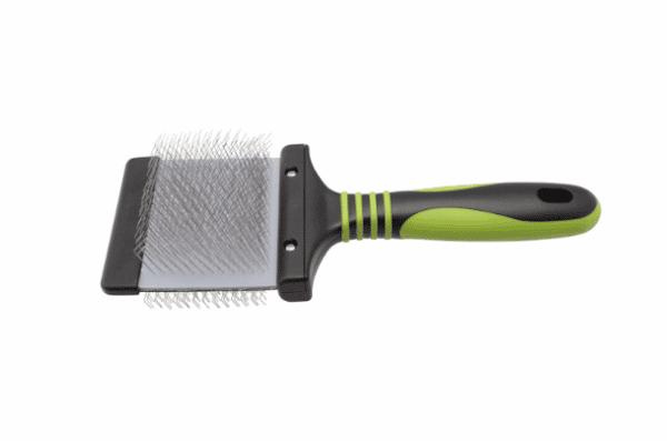 Finishing Green Slicker Brush - Soft by Dog Fashion Spa