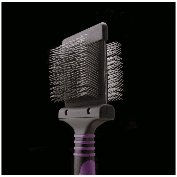 Deshedding Purple Slicker Brush - Medium Flexible by Dog Fashion Spa