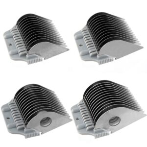 Set of 4 Extra Long Wide Comb Attachments by Mastercut