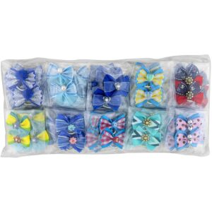 groom professional blue bow for groomers pack