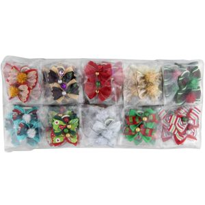 groom professional christmas bow for groomers pack