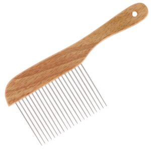groom professional wooden poodle comb grooming